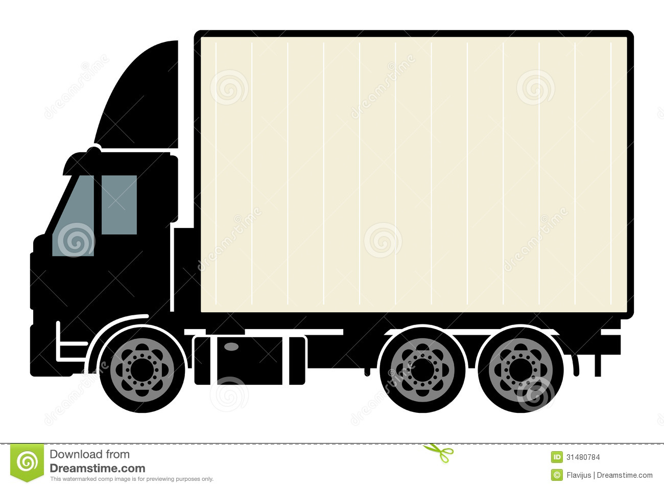 1300x957 Truck Outline Clipart