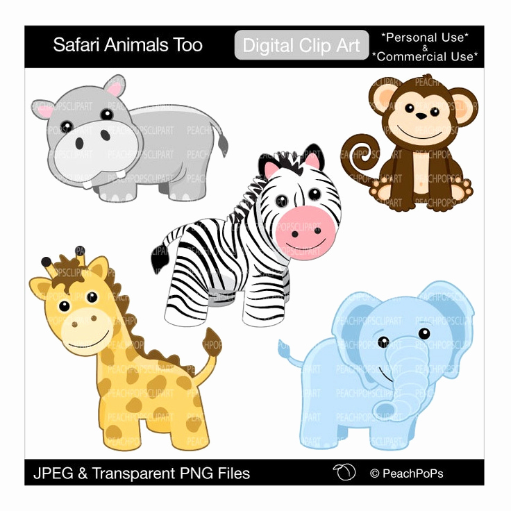 736x736 Cute Jungle Animals Clipart Luxury Free Free Jungle Animal Clipart
