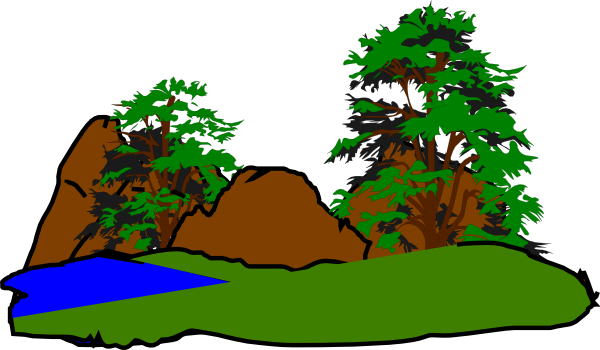 600x350 Green Forest Clip Art