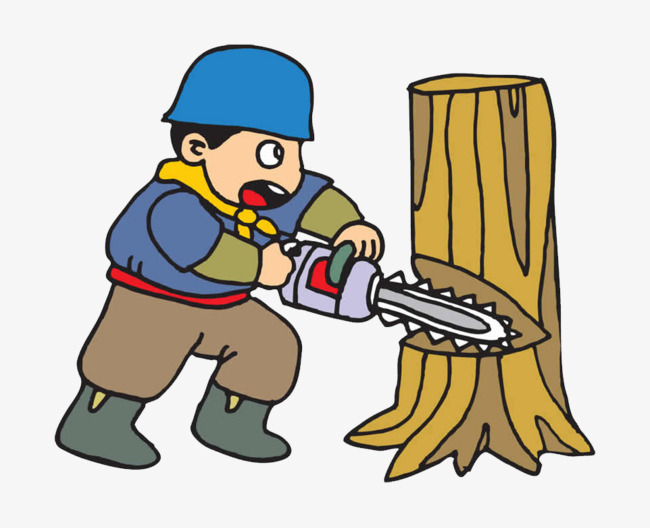 650x528 Cartoon Tree Felling, Harvesters, Forest, Trees Png Image