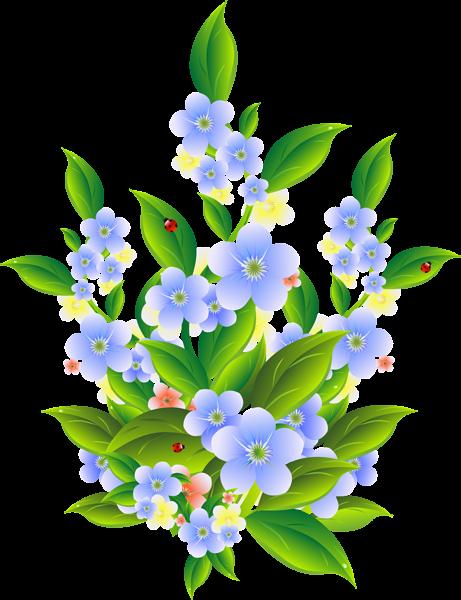 461x600 Floral Bush Decoration Transparent Clip Art Png Image Flowers