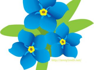 320x240 Forget Me Not Clip Art Free Forget Me Knot Clipart Corn Coloring