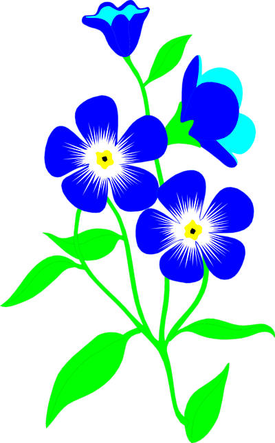 400x645 Forget Me Not Flower Clip Art