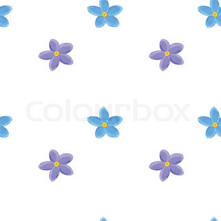 320x320 Lilies Of The Valley And Blue Flowers Isolated On White Stock
