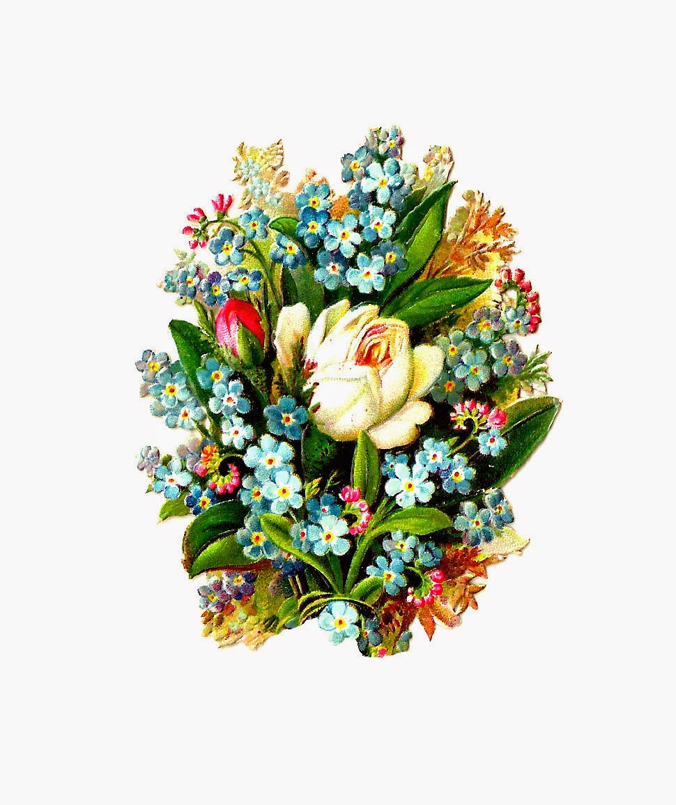 970x1155 Antique Images Free Digital Flower Clip Art Graphic Of White