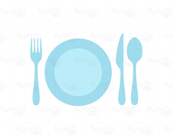 570x456 Plate Setting Clipart, Meal Settings Clip Art, Plates Utensils