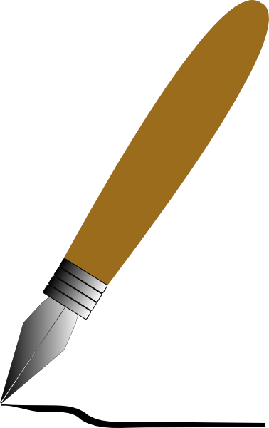 378x600 Fountain Pen Clip Art Free Vector 4vector