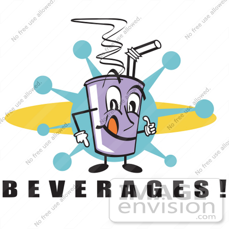 450x450 Royalty Free Cartoon Clip Art Of A Purple Cup Holding Fountain