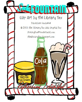 281x350 Soda Fountain Clip Art With Blacklines By The Libraryfox Tpt