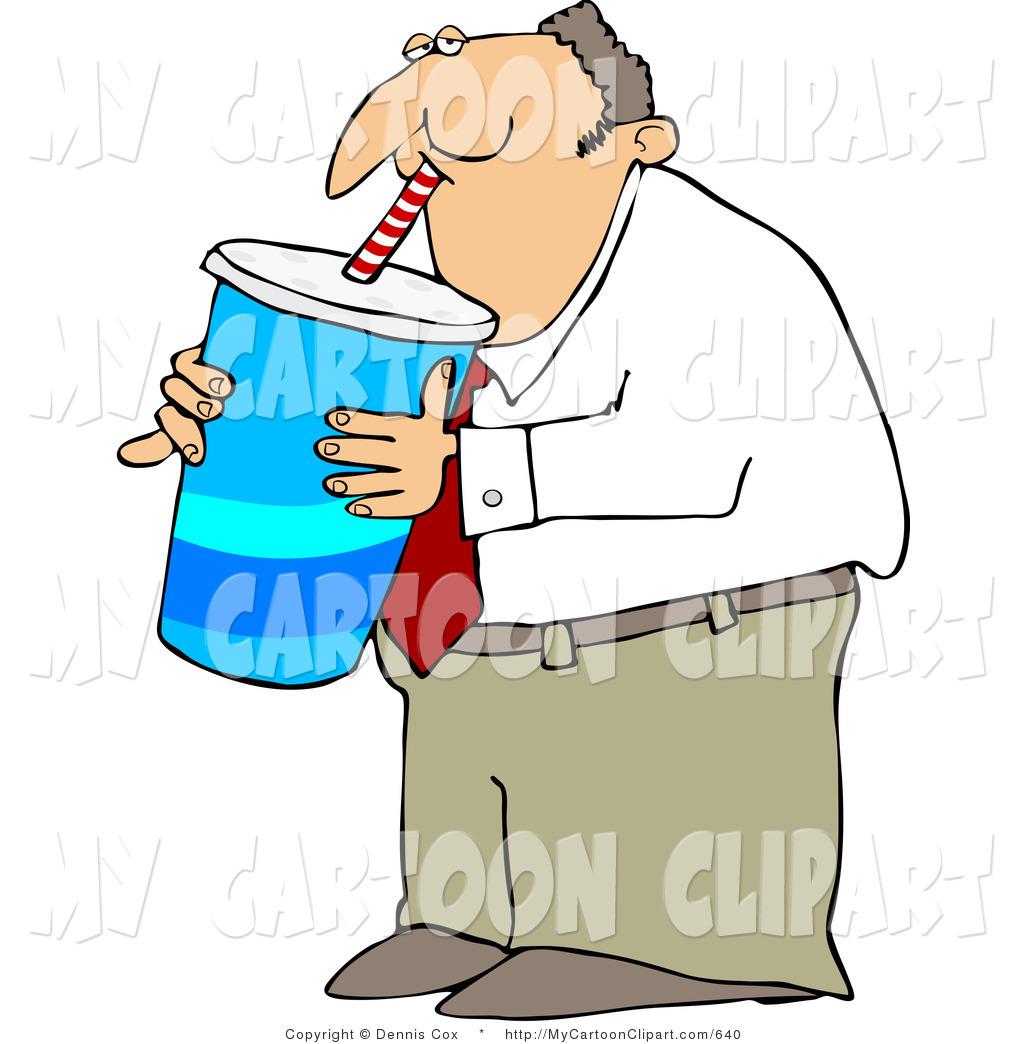 1024x1044 Clip Art Of An Overweight Businsesman Gulping A Large Fountain