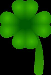 204x299 Four Leaf Clover Clip Art