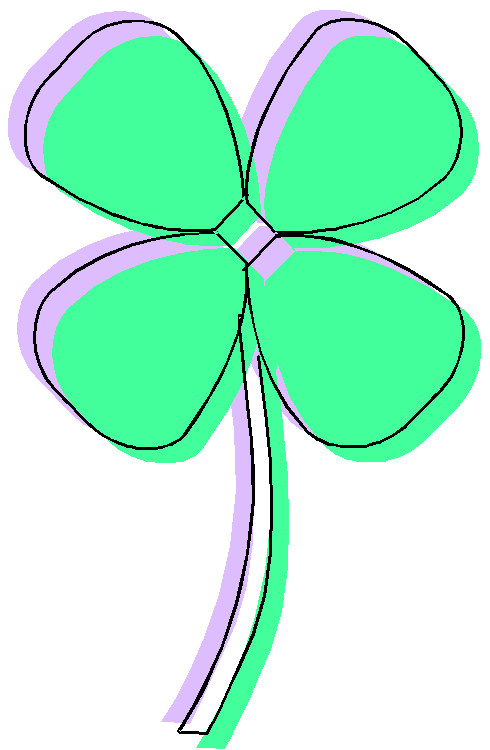 490x750 Free Clip Art 4 Leaf Clover Two Four Leaf Clover Outlines Clip Art