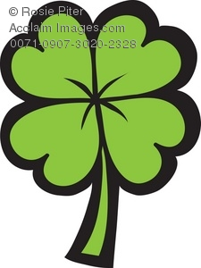 225x300 Clip Art Illustration Of A Four Leaf Clover