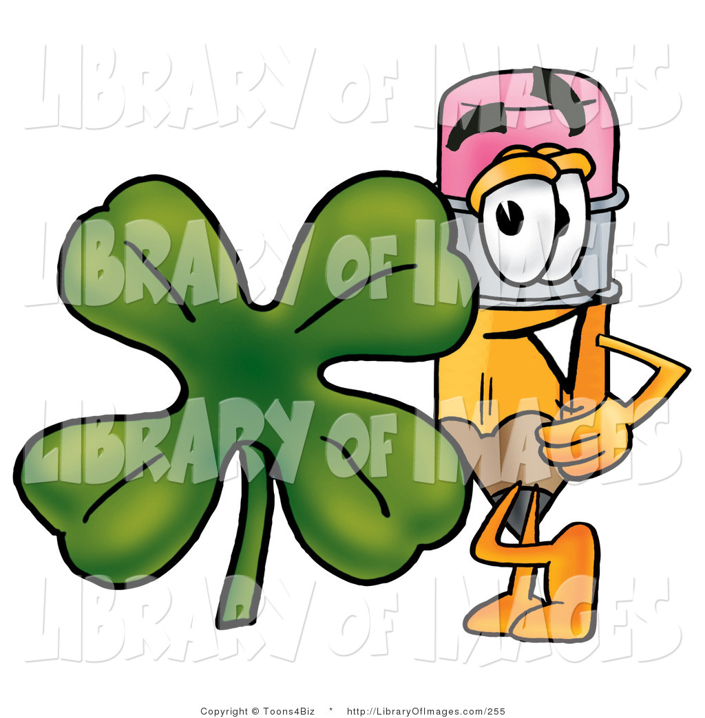 1024x1044 Clip Art Of A Yellow Pencil Mascot Cartoon Character With A Green