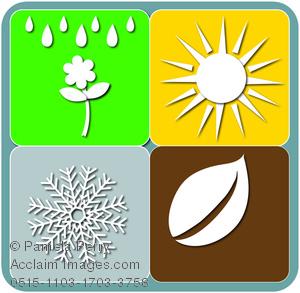 300x293 Clip Art Illustration Of The Four Seasons Symbols