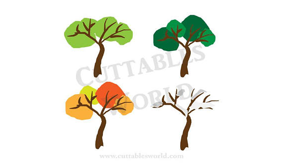 570x333 Four Seasons Trees Svg Png Dxf Pdf Eps And Jpg Format Clipart