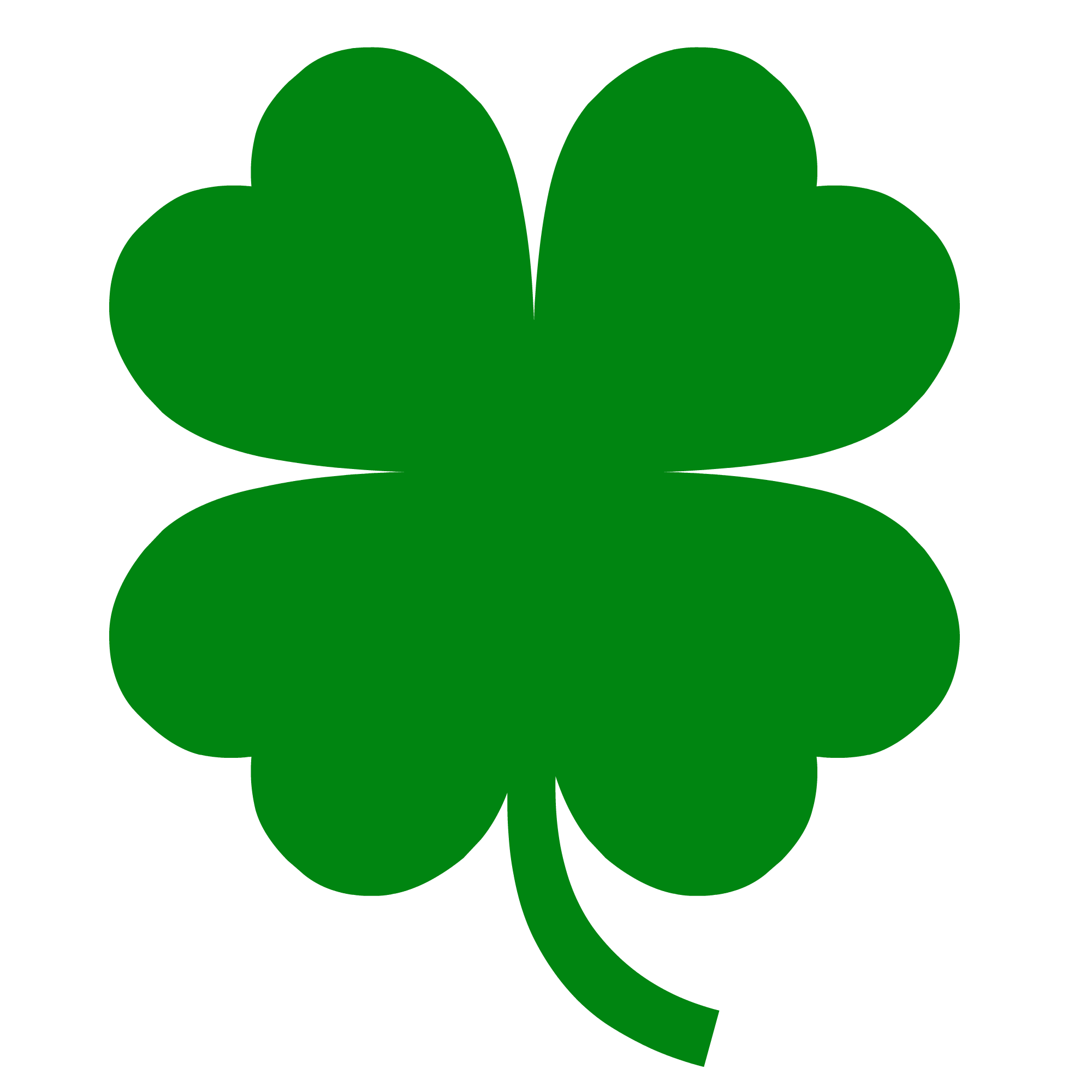 2000x2000 Collection Of Four Leaf Clover Clipart High Quality, Free