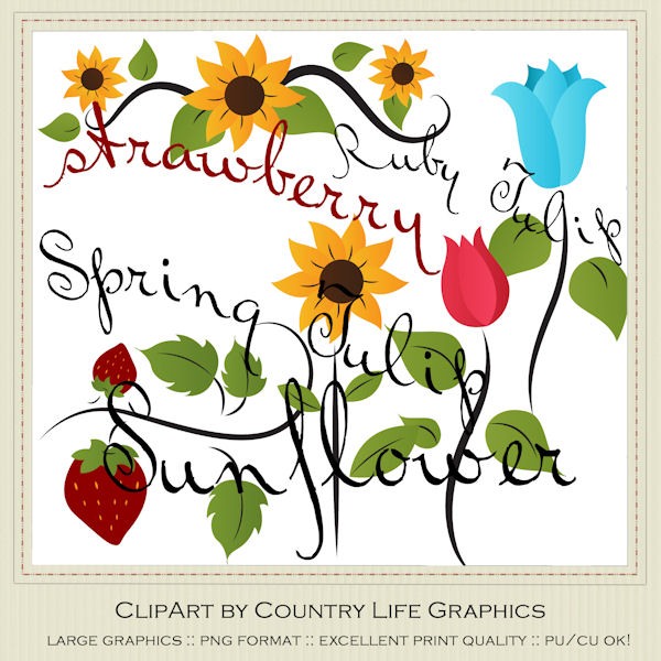 600x600 Spring Season Clip Art Clip Art Designs, Commercial Use Products