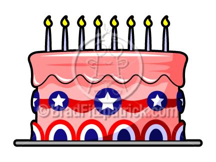 432x324 Patriotic Cake Clip Art 4th Of July Cake Clipart Cartooon