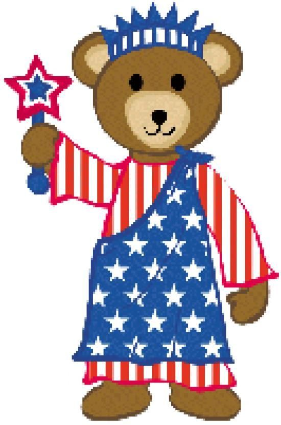 550x831 Patriotic Teddy Bear Clip Art Clip Art Patriotic Clipart 4th