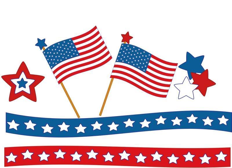 800x580 4th Of July Clipart Banners Borders Free Download