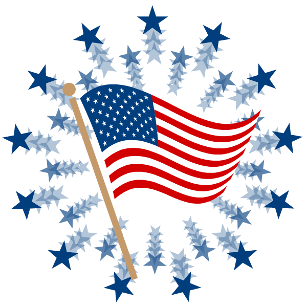 600x600 Fourth Of July Holiday Clip Art Pictures Graphicsgrottocom Clipart