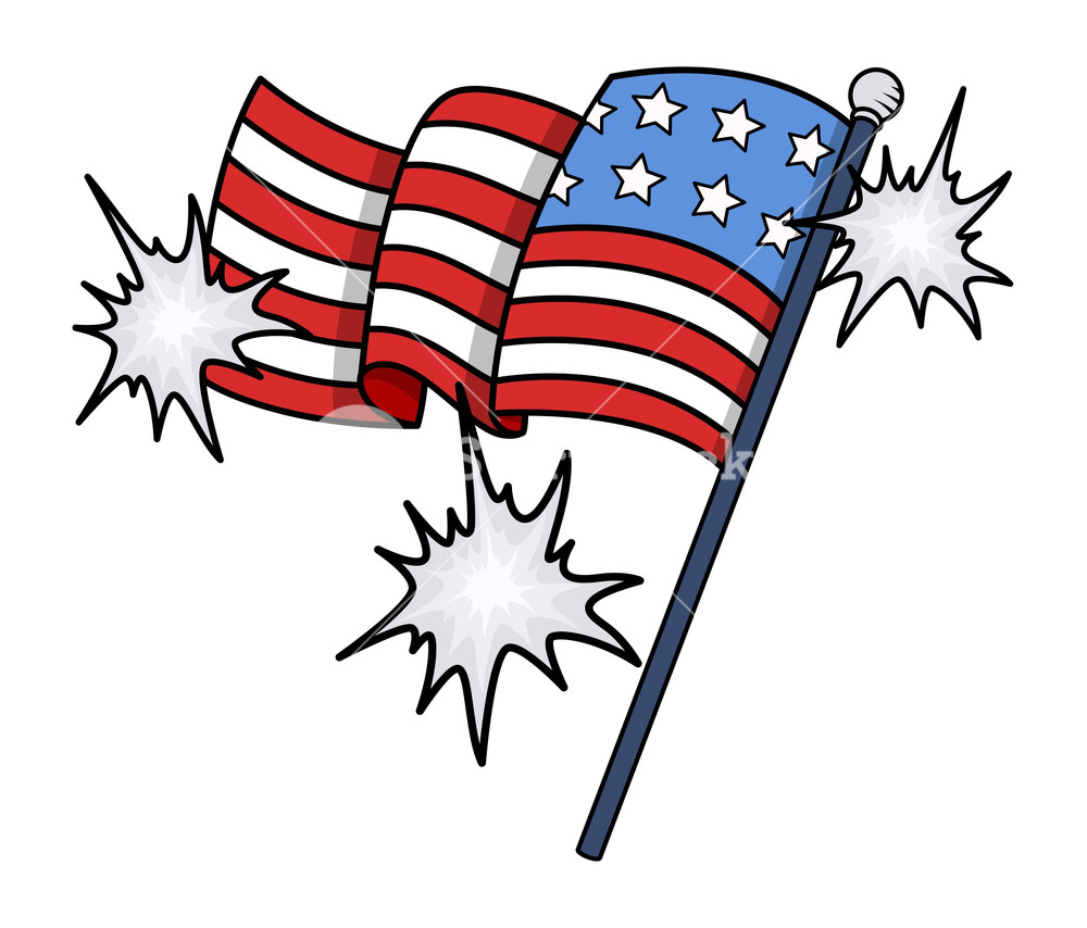 1000x854 Shiny Usa Flag Vector Clip Art 4th Of July Celebration Royalty