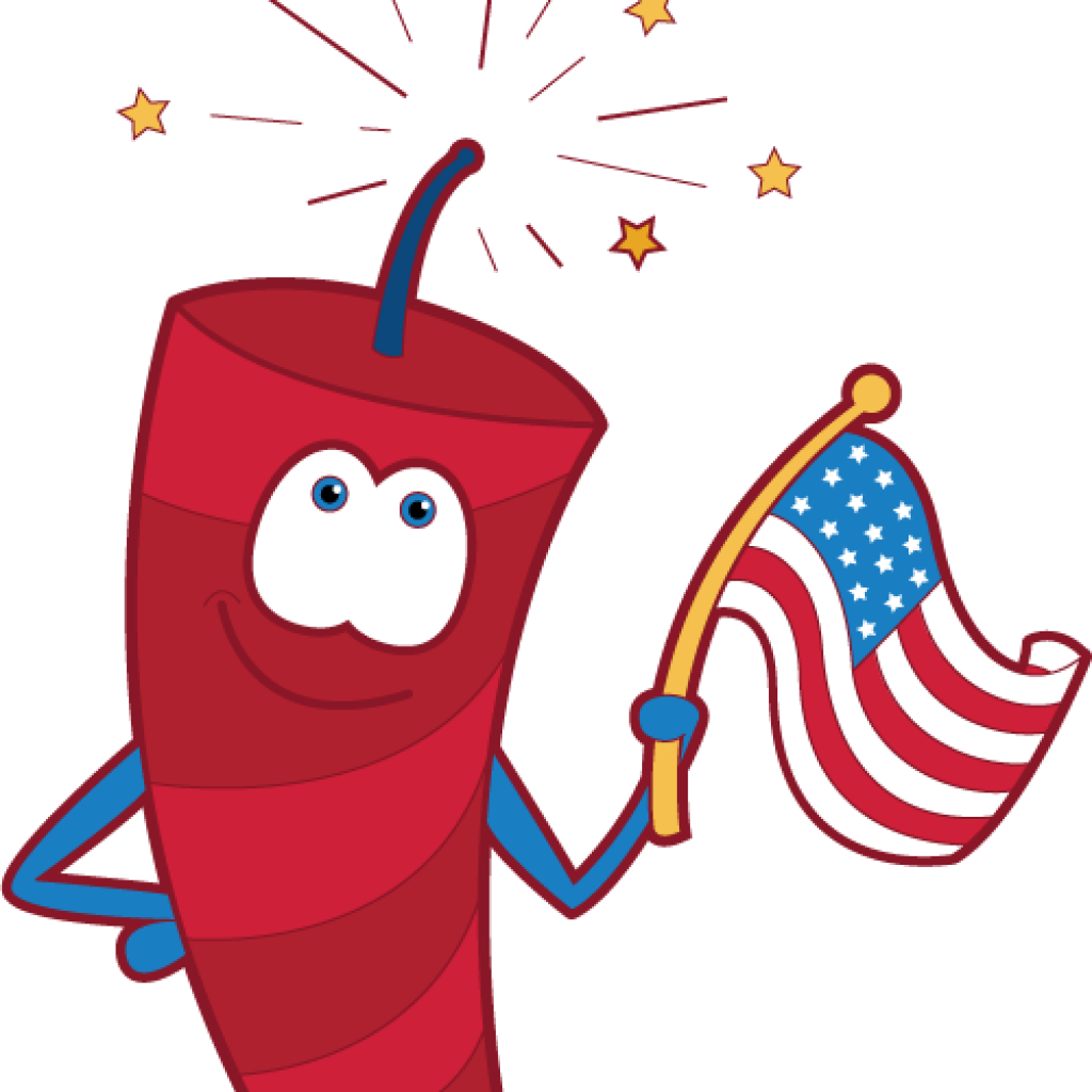 1024x1024 4th Of July Fireworks Clipart Horse Clipart