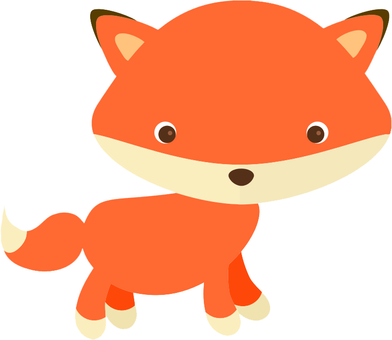 800x694 Free Cute Fox Clip Art