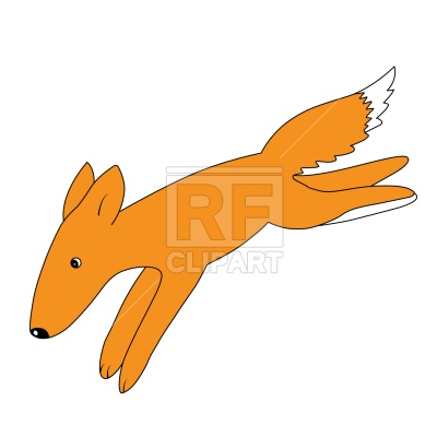 400x400 Running Cartoon Fox Royalty Free Vector Clip Art Image