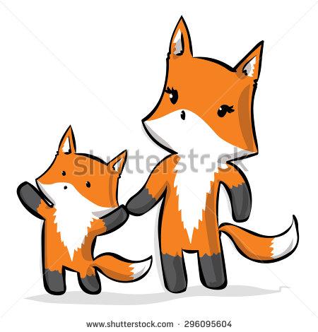 450x470 Fox Clipart Mommy