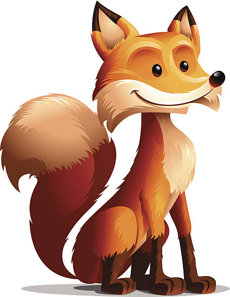 475x612 Red Fox Clipart Vector