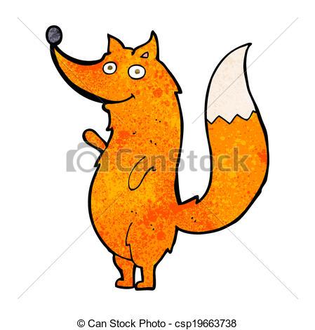 449x470 Cartoon Waving Fox Vectors