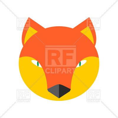 400x400 Fox Face Royalty Free Vector Clip Art Image