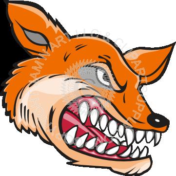 361x361 Fox Head Showing Teeth