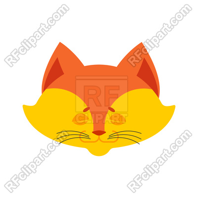 400x400 Fox Sleeping Emoji Royalty Free Vector Clip Art Image
