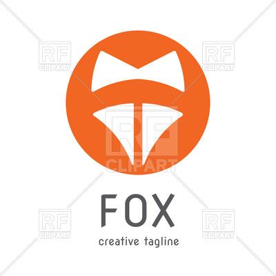 400x400 Orange Fox Head Symbol Royalty Free Vector Clip Art Image