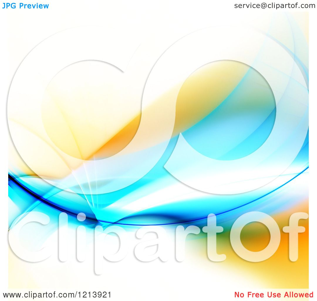 1080x1024 Clipart Of A Blue And Orange Glowing Fractal Swoosh