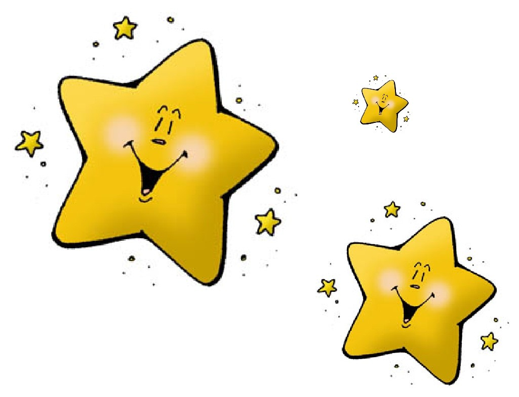 1025x785 Funny Cute Stars On Transparent Background Clip Art With Moon