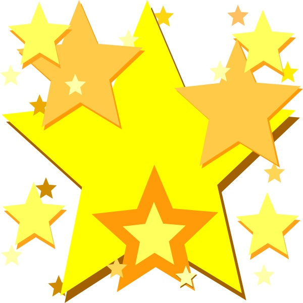 600x600 Images Of Stars Clipart Gold Star Fractal No Background