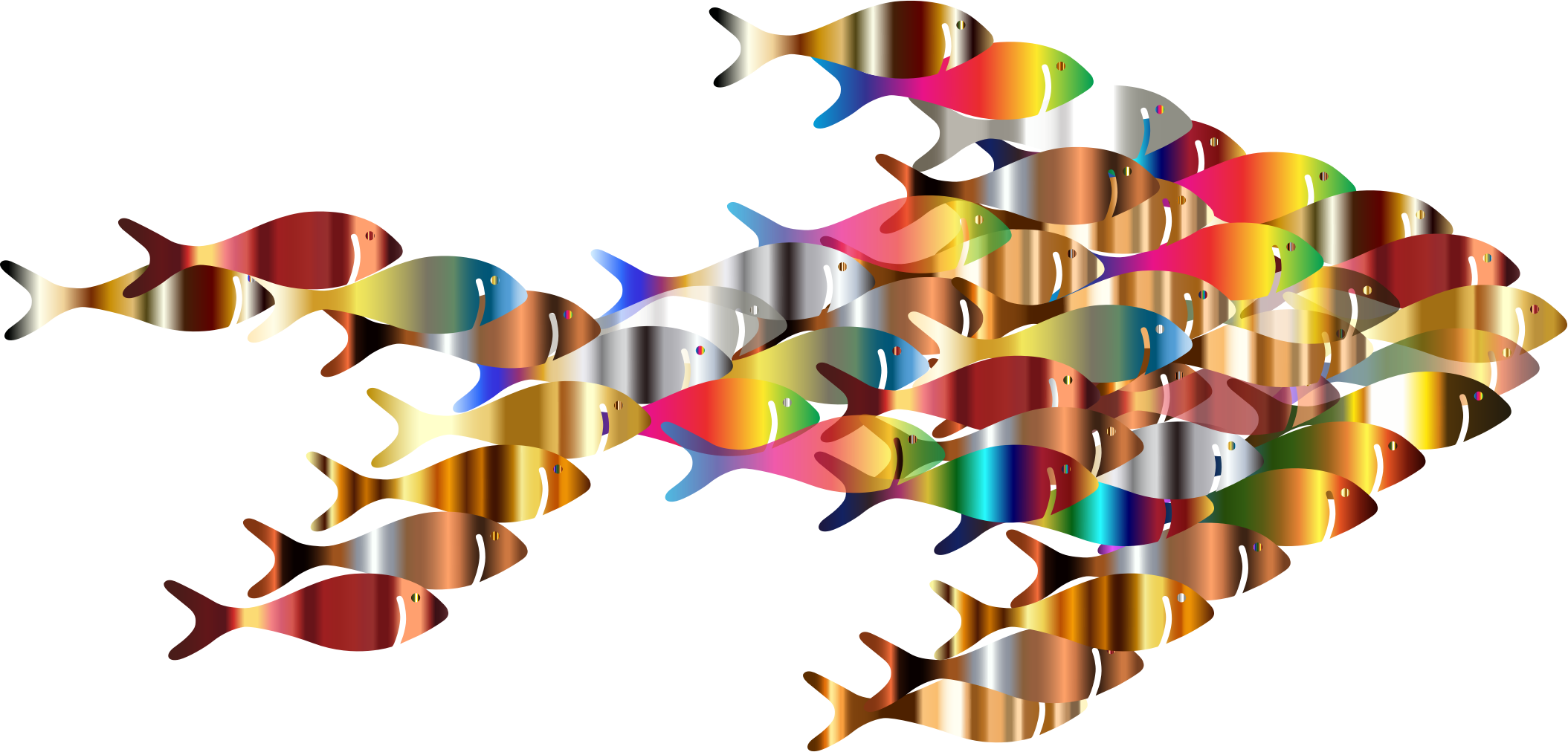 2109x1012 Chromatic Colorful Fish Fractal Icons Png