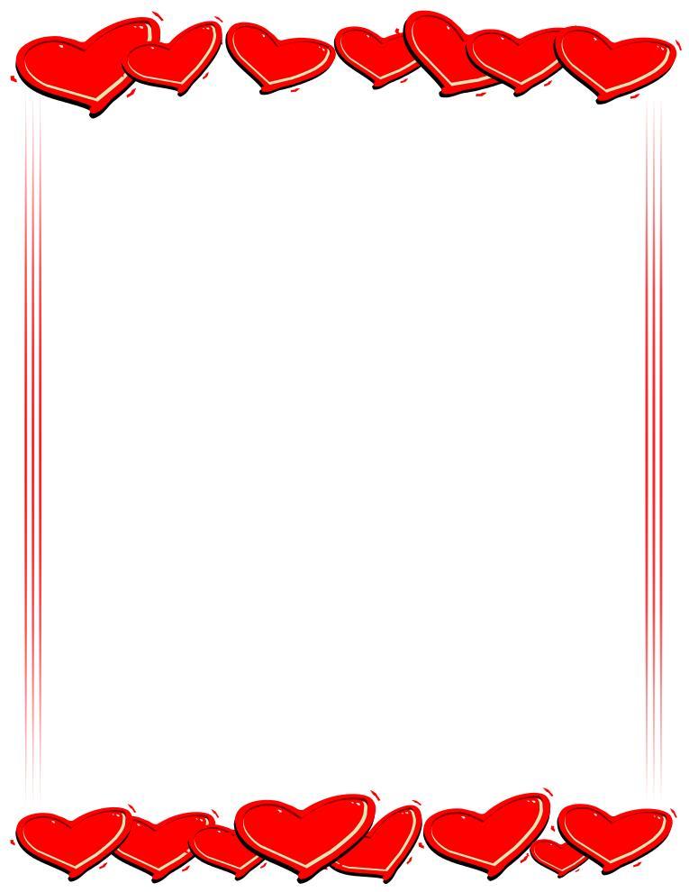 765x990 Valentine Hearts Border Clip Art Quotes Amp Wishes For Valentine'S