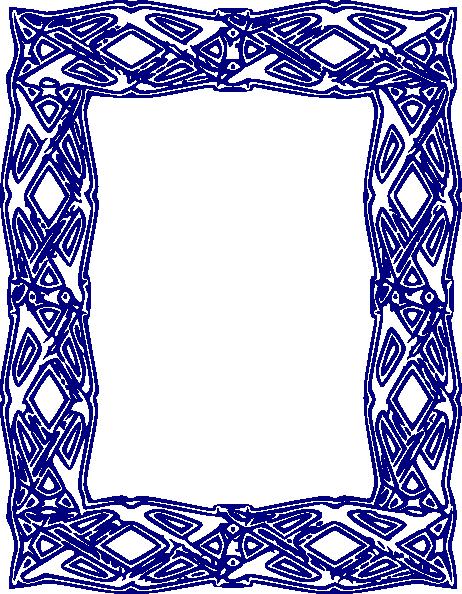 462x594 Blue Border 2 Clip Art