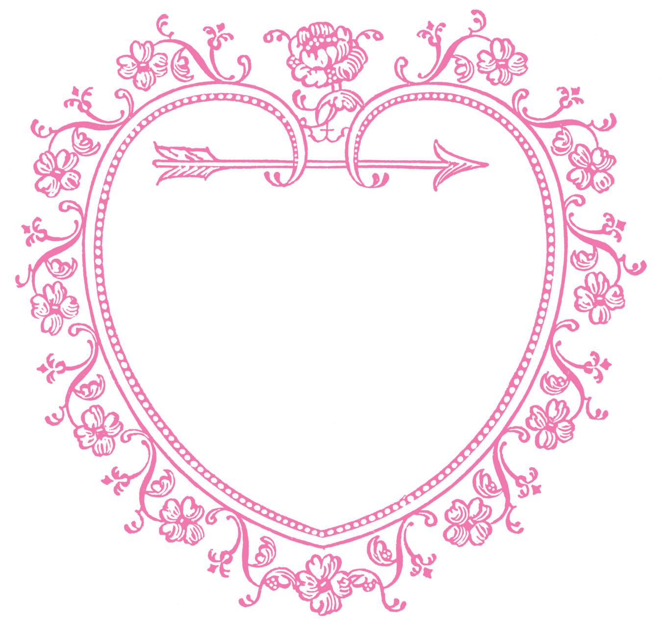 1350x1265 Vintage Valentine's Day Clip Art