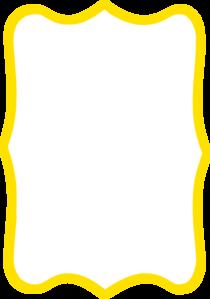 210x299 Yellow Frame Clip Art