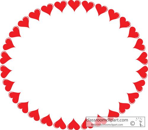 500x440 Hearts Border Clip Art Free Blue Heart Border Preview