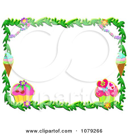 450x470 Ice Cream Border Clipart Ice Cream Border Page Clip Art Vector