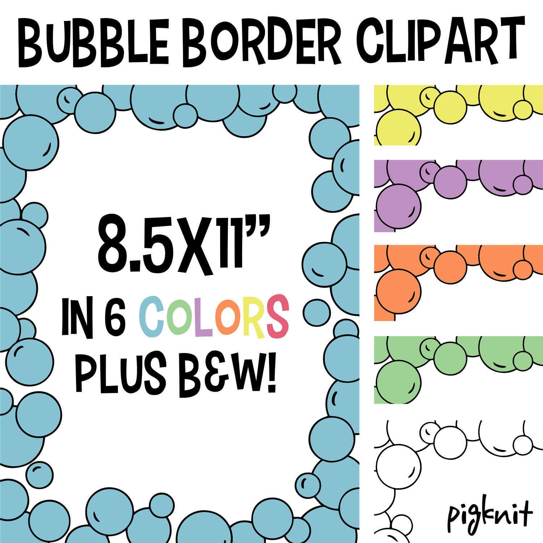1500x1500 Bubble Border Clip Art, Bubble Stationary, Bubble Background