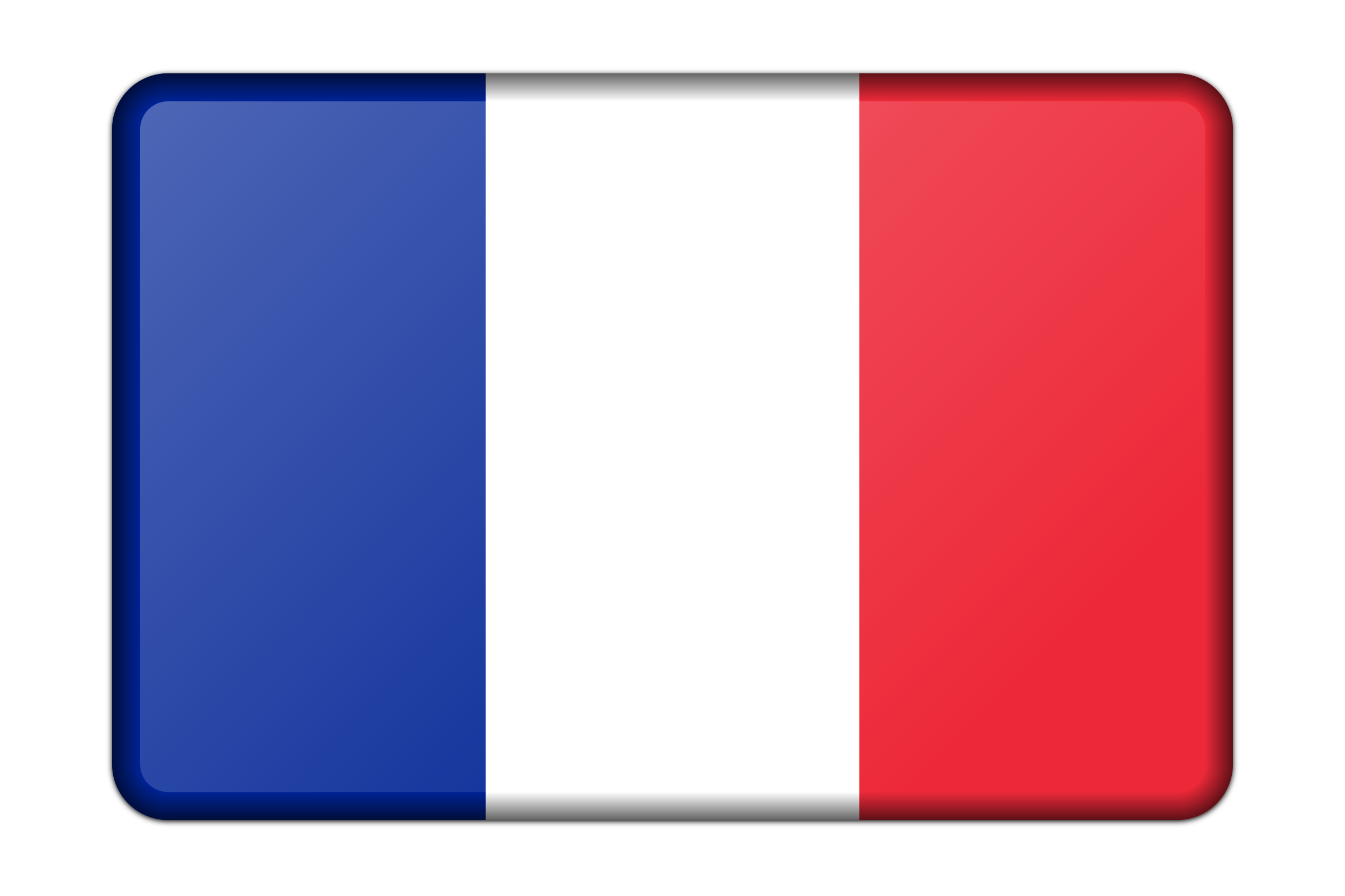 2400x1600 France Flag (Bevelled) Icons Png