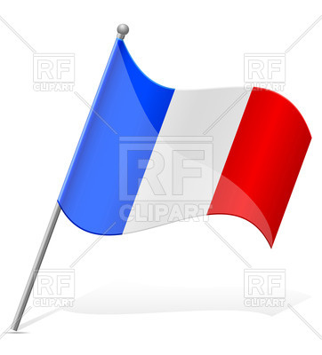 362x400 Icon Of Wavy Flag Of France Isolated On White Background Royalty